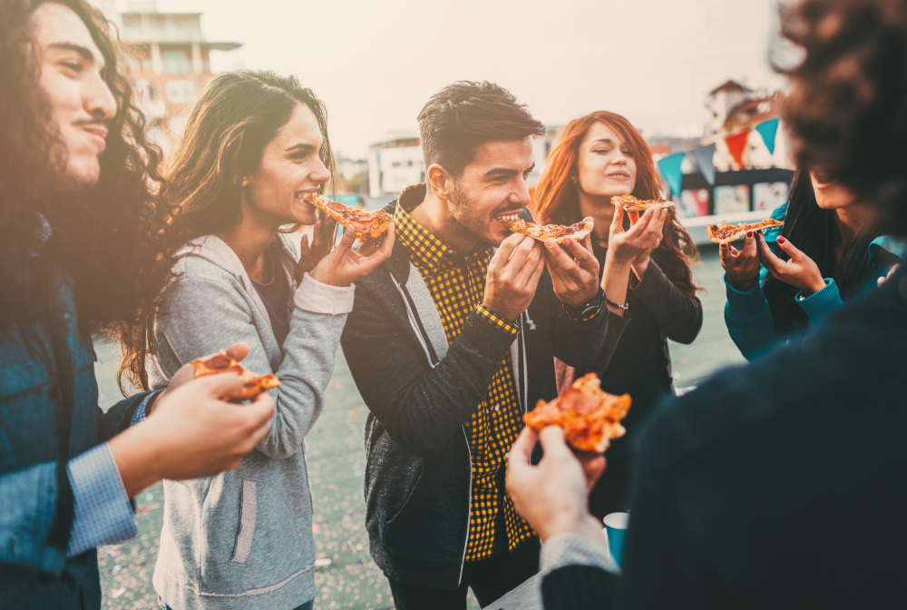 Pizza Time On The Roof