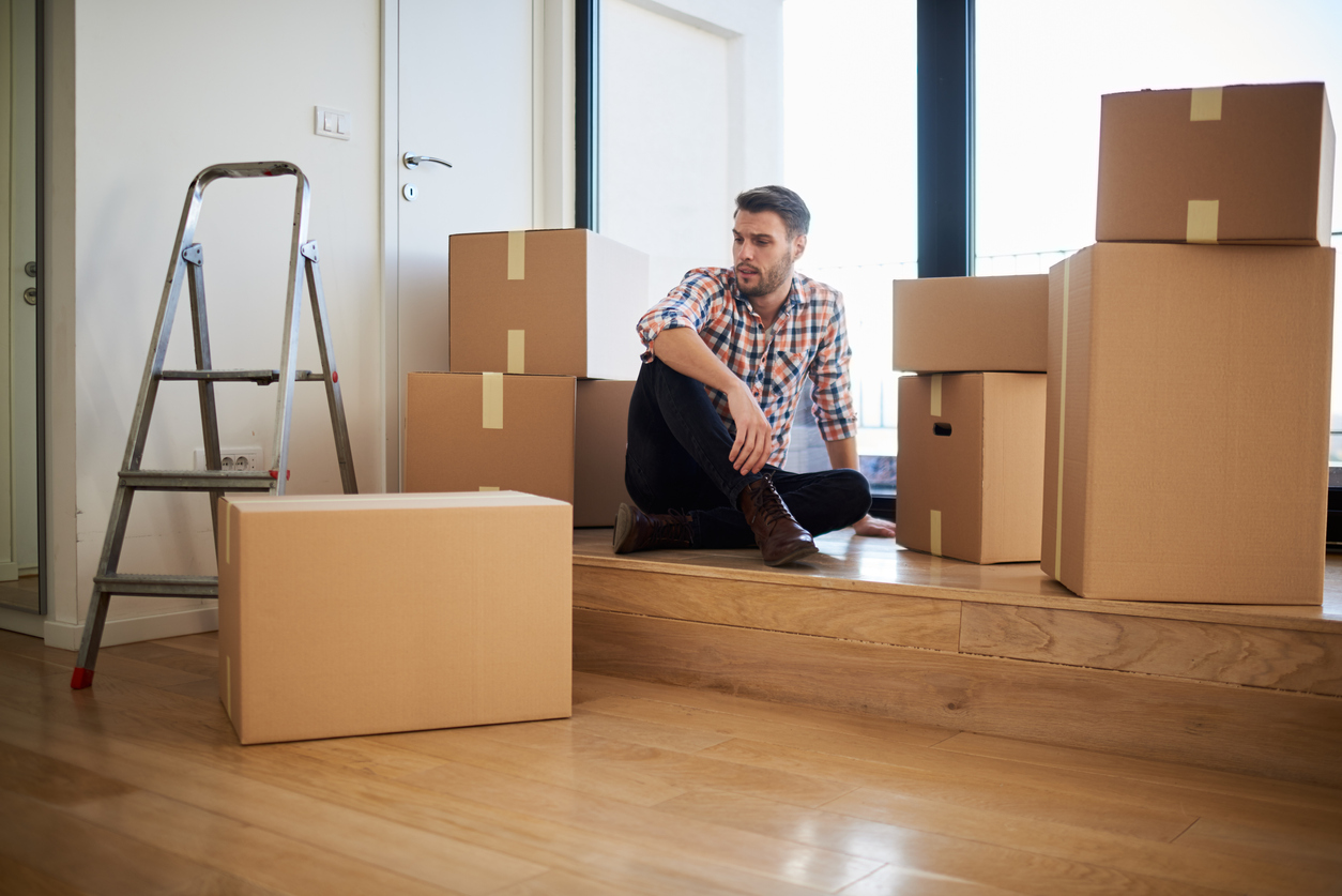 Man In New Apartment